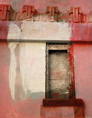 Poster featuring the painting Red Wall by John Fish