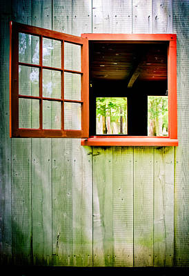Red Window Poster by Colleen Kammerer