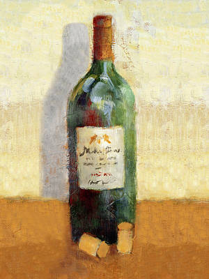 Red Wine And Cork Poster by Lanie Loreth