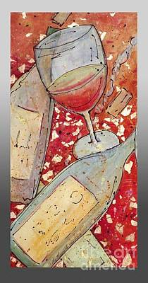 Poster featuring the painting Red Wine I by Cynthia Parsons
