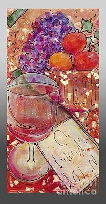 Poster featuring the painting Red Wine II by Cynthia Parsons