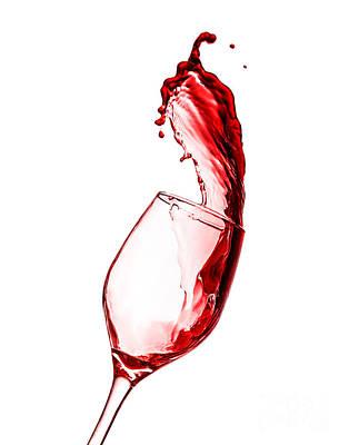 Red Wine Splash Poster by Anna Om