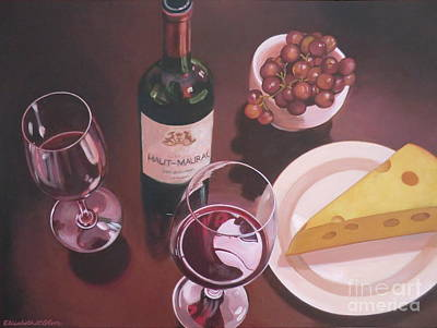 Red Wine Still Life I Poster by Elisabeth Olver