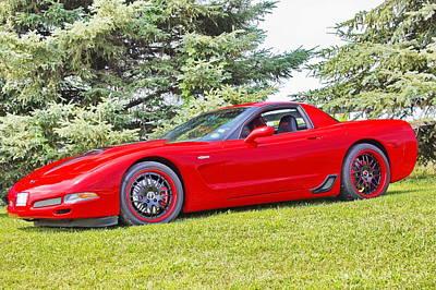 Red Z06 C5 Corvette Poster