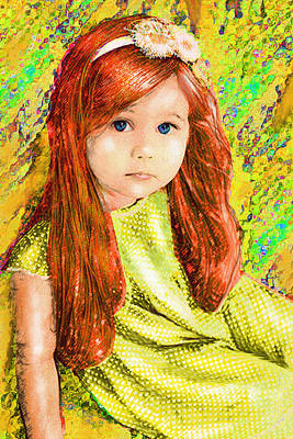 Poster featuring the digital art Redhead by Jane Schnetlage