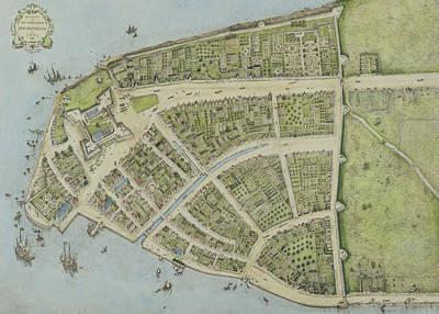 Redraft Of The Castello Plan Poster by John Wolcott Adams