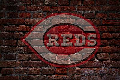 Reds Baseball Graffiti On Brick  Poster by Movie Poster Prints
