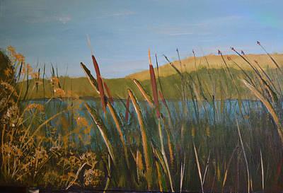Reeds Poster by Zilpa Van der Gragt