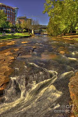 Reedy River Falls Flows On 2 Greenville Sc Poster