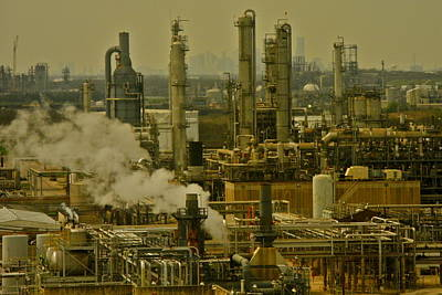 Refineries In Houston Texas Poster