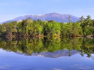 Poster featuring the photograph Reflected Katahdin by Gene Cyr