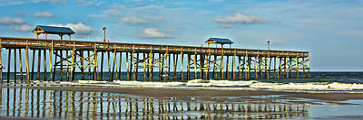 Reflection Pier Poster by Paula Porterfield-Izzo
