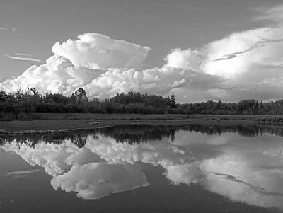 Reflecting Clouds Poster by Gene Cyr