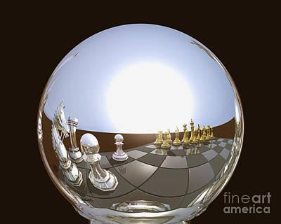 Reflecting Globe - Chess Poster
