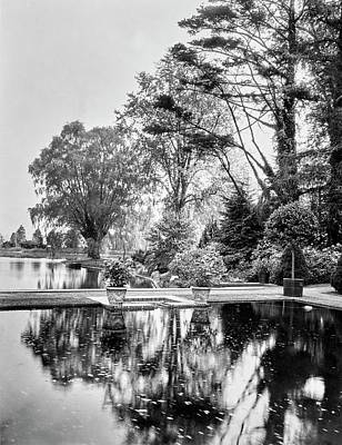 Reflecting Pool In Oyster Bay Poster by Mattie Edwards Hewitt
