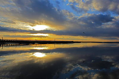 Poster featuring the photograph Reflection Grays Beach Boardwalk by Amazing Jules