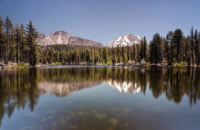 Reflection Lake Lassen National Park Poster