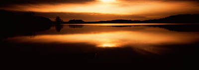 Reflection Of Clouds In A Lake, Loch Poster