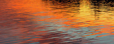 Reflection Of Sun On Water, Rockland Poster