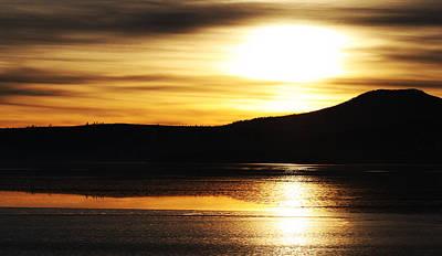 Reflection On Lake Klamath Poster