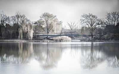 Reflection Over Lake Winter Scene Poster