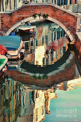 Reflection-venice Italy Poster by Tom Prendergast