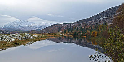 Reflections At Loch Laggan Poster