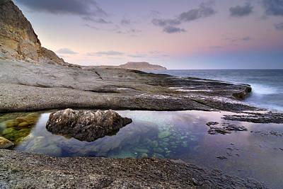 Reflections At Plomo Beach Poster by Guido Montanes Castillo