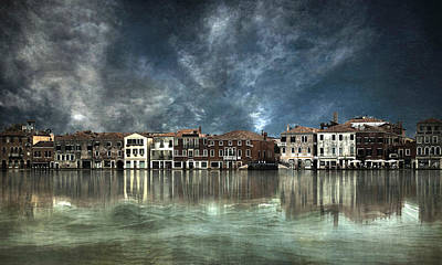 Reflections In Venice Poster