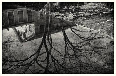 Reflections Northboro Dam Poster by Patrick Garner