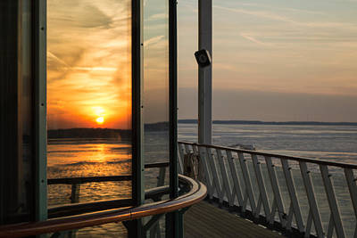 Poster featuring the photograph Reflections Of A Chesapeake Sunset by Bill Swartwout