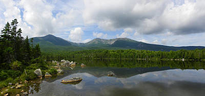 Reflections Of Katahdin At Sandy Stream Pond Poster