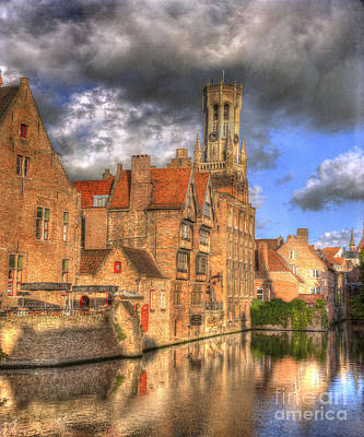 Reflections Of Medieval Buildings Poster by Juli Scalzi