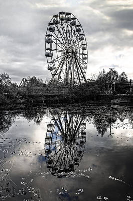 Reflections Of The Wheel Poster