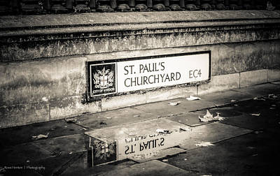 Reflections On St. Paul's Churchyard Poster