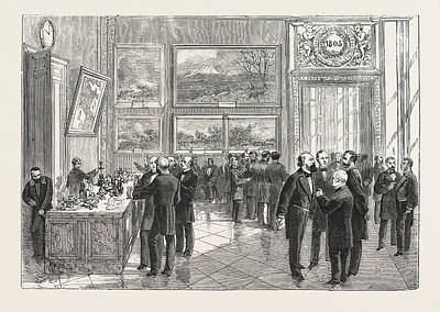 Refreshment Buffet Of The New Chamber Of Deputies Poster by French School