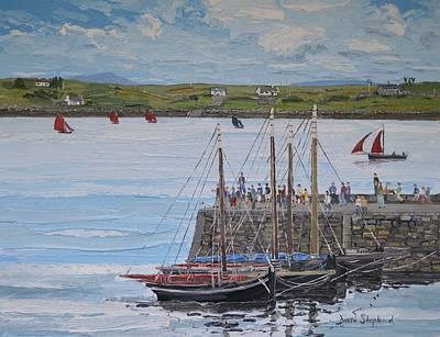 Regatta At Roundstone Harbour Connemara Poster