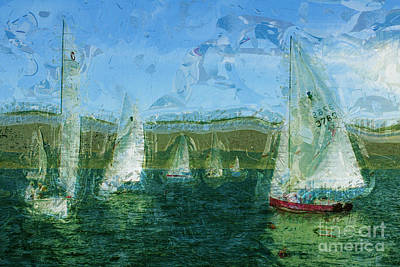 Poster featuring the photograph Regatta Day by Julie Lueders
