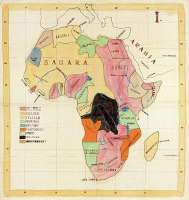 Regions Of Africa Poster by Library Of Congress, Geography And Map Division