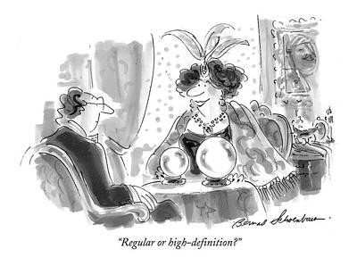 Regular Or High-definition? Poster by Bernard Schoenbaum