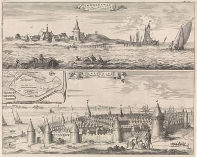 Reimerswaal In Past And Present Times, 1634 Poster by Jan Luyken And Johannes Meertens And Abraham Van Someren