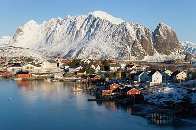 Reine Village In Winter, Lofoten Poster