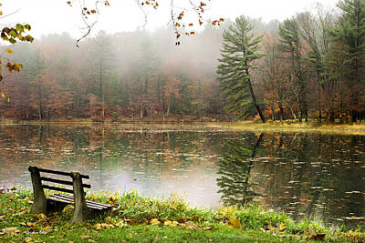 Relaxing Autumn Beauty Landscape Poster by Christina Rollo