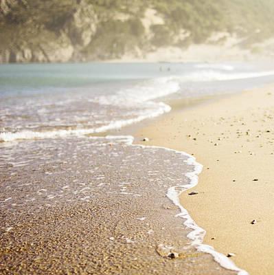 Relaxing Beach Poster by Alejandra Pinango