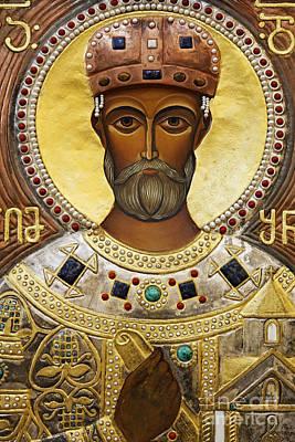 Religious Art Inside The Tsminda Sameba Cathedral Tbilisi Poster