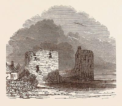 Remains Of Flint Castle, Located In Flint, Flintshire, Uk Poster by English School
