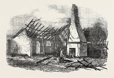 Remains Of The National School At Capel Near Ipswich Struck Poster