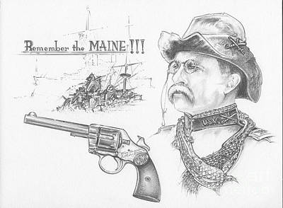 Remember The Maine Poster by Scott and Dixie Wiley