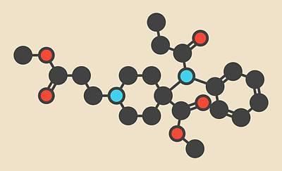 Remifentanil Drug Molecule Poster by Molekuul