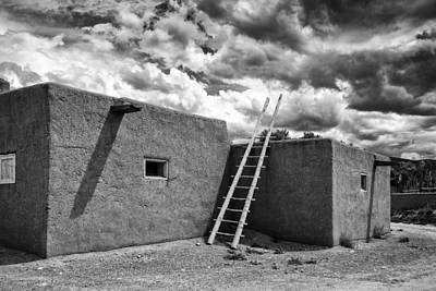 Reminiscent - Taos Pueblo New Mexico Poster by Silvio Ligutti